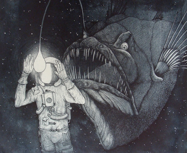 TANAATH : REINCARNATING SOUL TRAPS … CAMERON DAY : I AM SOVEREIGN  Angler-fish-space