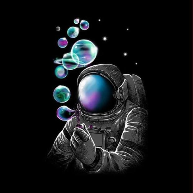 astronaut bubbles