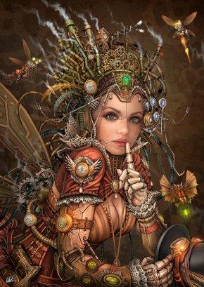 silence_please___steampunk_fairy_by_darkakelarre-d7sechn