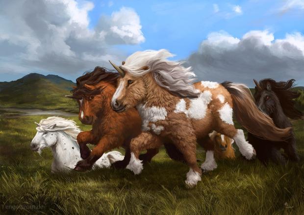 shetland_unicorns_by_engelszorn-d9pe09c
