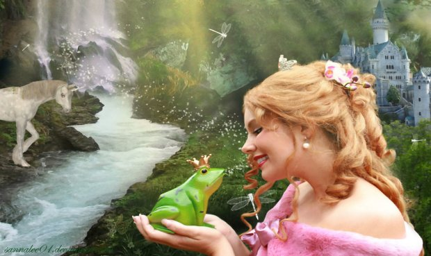 kissing_the_frog_prince_by_sannalee01-d2yqqat