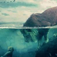 lion mermaid water aether