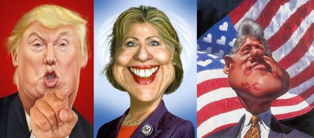trump-hillary-and-bill-clinton