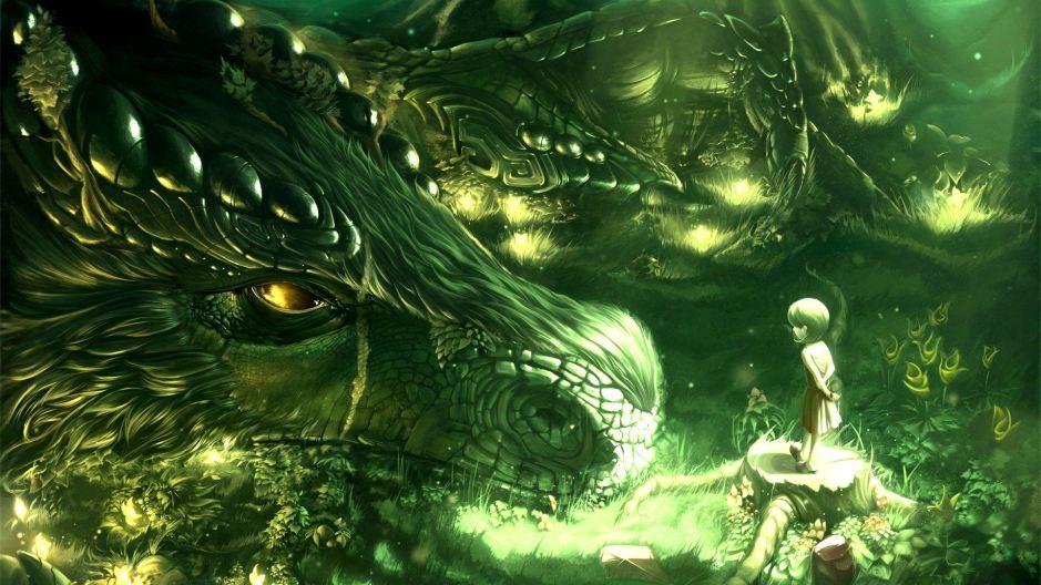 green-trees-dragons-monsters-forest-kids-fantasy-art-artwork-magical-fresh-new-hd-wallpaper