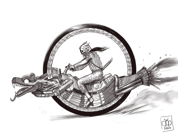 plumed_serpent_monocycle_sketch_by_plumed_serpent-d6v854f