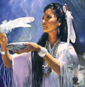 smudging_lady