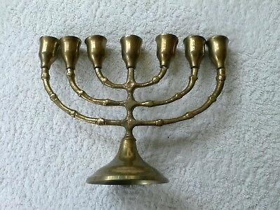 7-candle-holder-vintage-small-brass-menorah-brass-7-candle-holder-jewish-7-branch-candle-holder