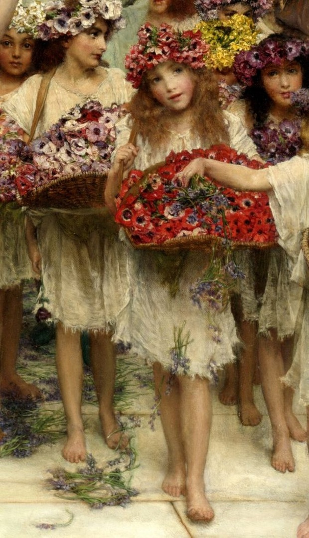 FLOWERGIRLSSir Lawrence Alma-Tadema-Spring-detail