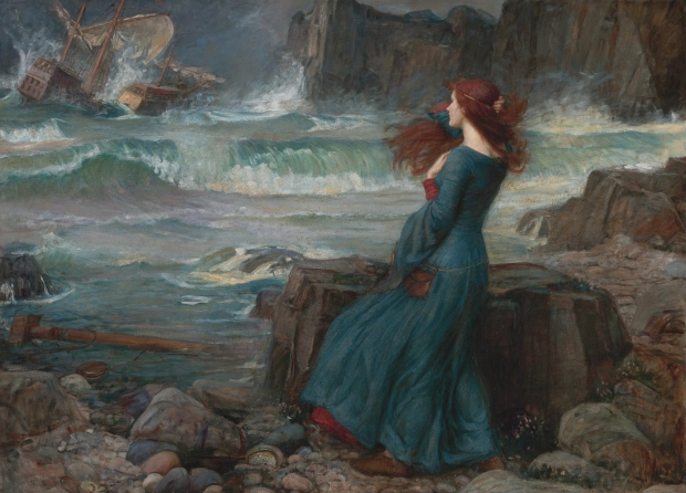 Miranda - The tempest, by John William Waterhouse