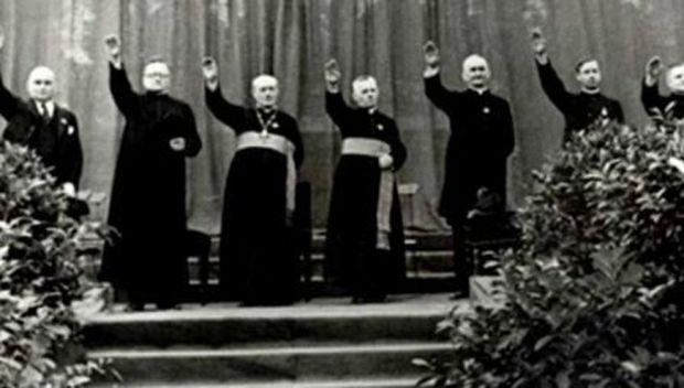 catholic-priests-giving-nazi-salute