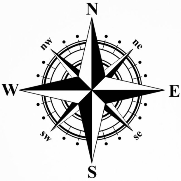 compass-rose-black-white