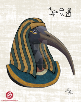thoth___egyptian_god_of_wisdom_and_scholarship___by_chenoaellinghaus-d7xhtnp