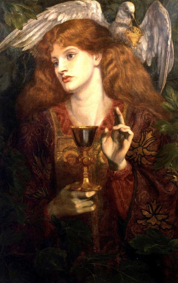 dantegabrielrossetti-thedamselofthesanctgrail-hitlerandtheholygrail-occulthistorythirdreich-petercrawford