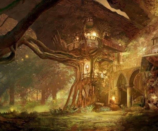 fantasy-forest-house-lights-favim.com-3134115